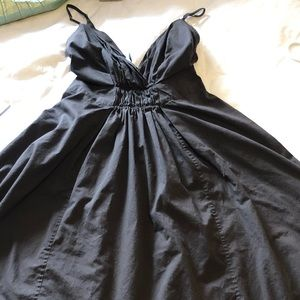 Ladies Black Gab Sleeveless Cotton Dress
